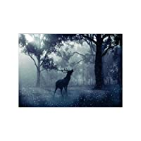 AchidistviQ foresta cervo ricamo a punto croce pieno trapano resina Diamond Painting Wall Decor