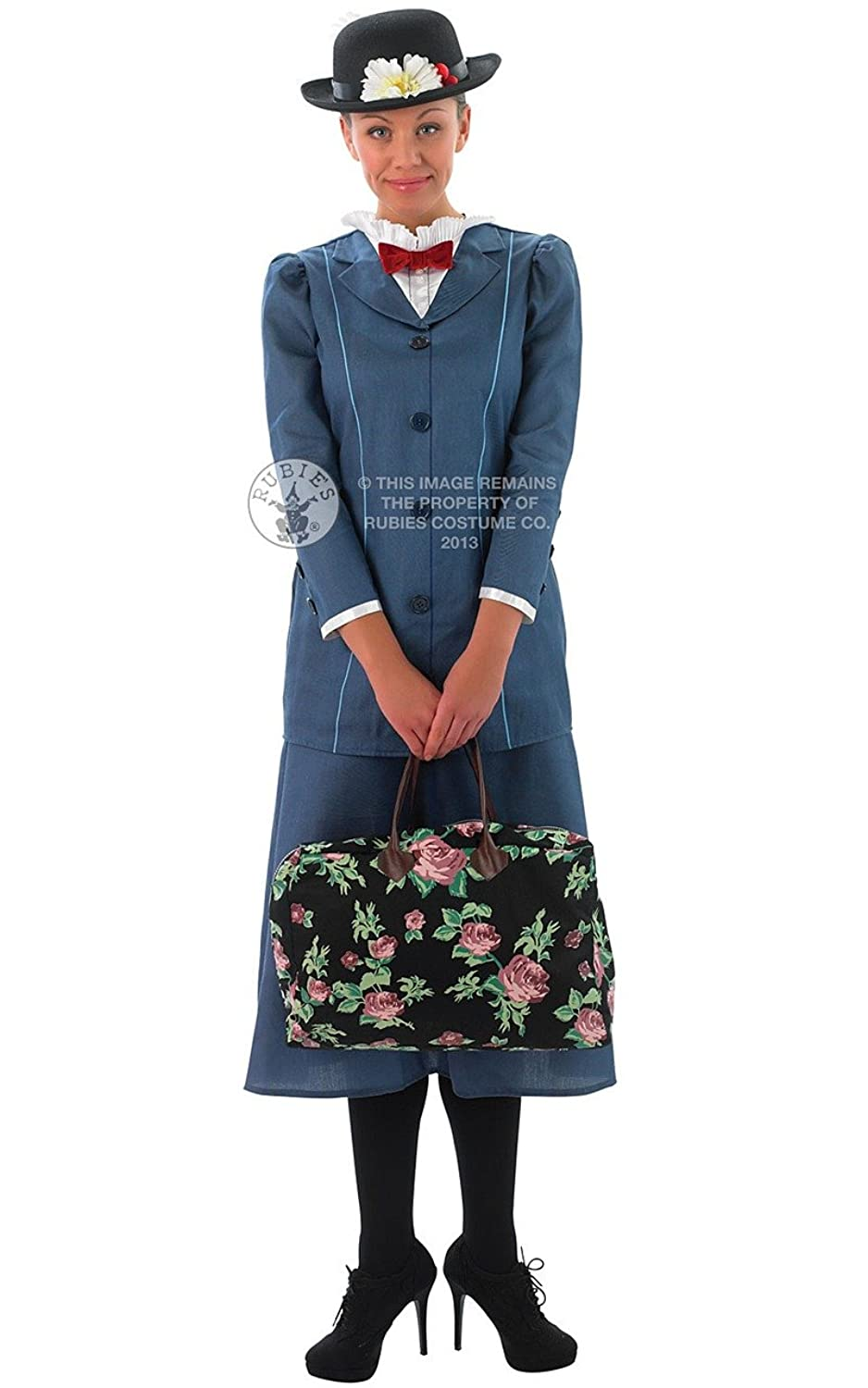 Edwardian Costumes – Cheap Halloween Costumes Disney Mary Poppins Full Costume- Adult Medium (12-14) $139.20 AT vintagedancer.com