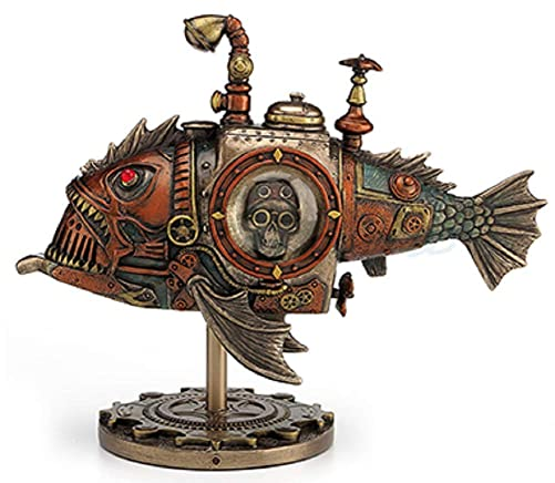 VERONESE 8.5 Steampunk Submarine Melanocetus – Unus Anglerfish Statue Sculpture Figure