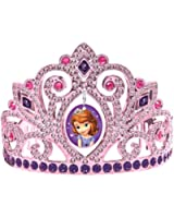 "Sofia the First Electroplated Princess Birthday Party Tiara Wearable Favour (1 Piece), Multi Color, 3 1/2"" x 4 1/2""."