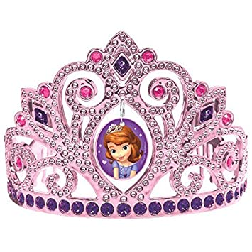 Sofia the First Electroplated Princess Birthday Party Tiara Wearable Favour (1 Piece), Multi