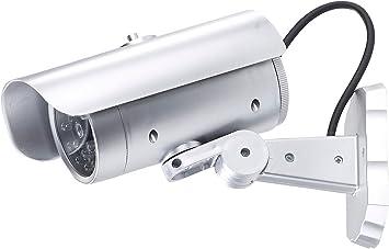 Visortech Fake Kamera Überwachungskamera Attrappe Mit Bewegungssensor Und Signal Led Überwachungskamera Fake Baumarkt