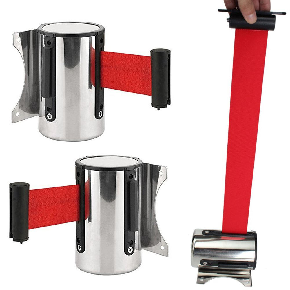 Cintur/ón de seguridad retr/áctil de 2 m y 5 m para montar en la pared