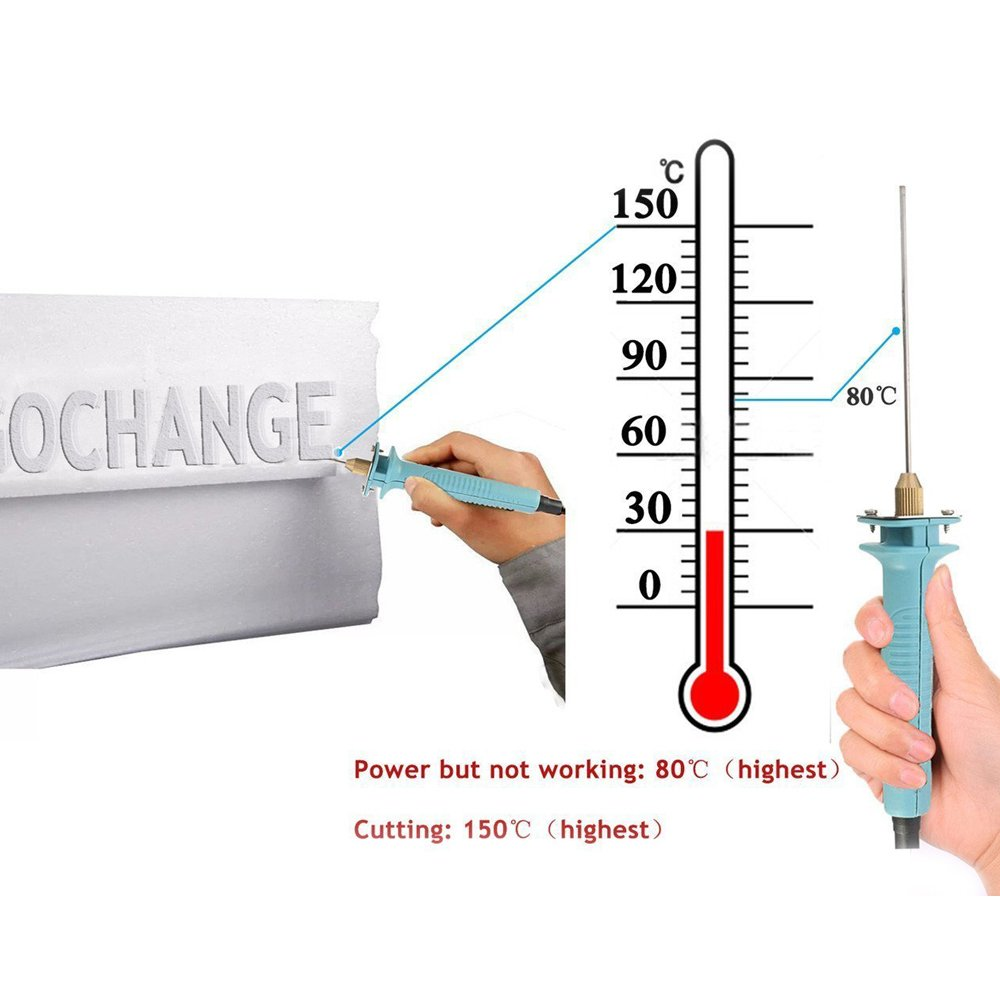 KKmoon Cortador de espuma de poliestireno KT bordo agujero de excavación cortador de cuchilla eléctrica pluma de grabado cuchillo caliente ranura (Tipo2): ...