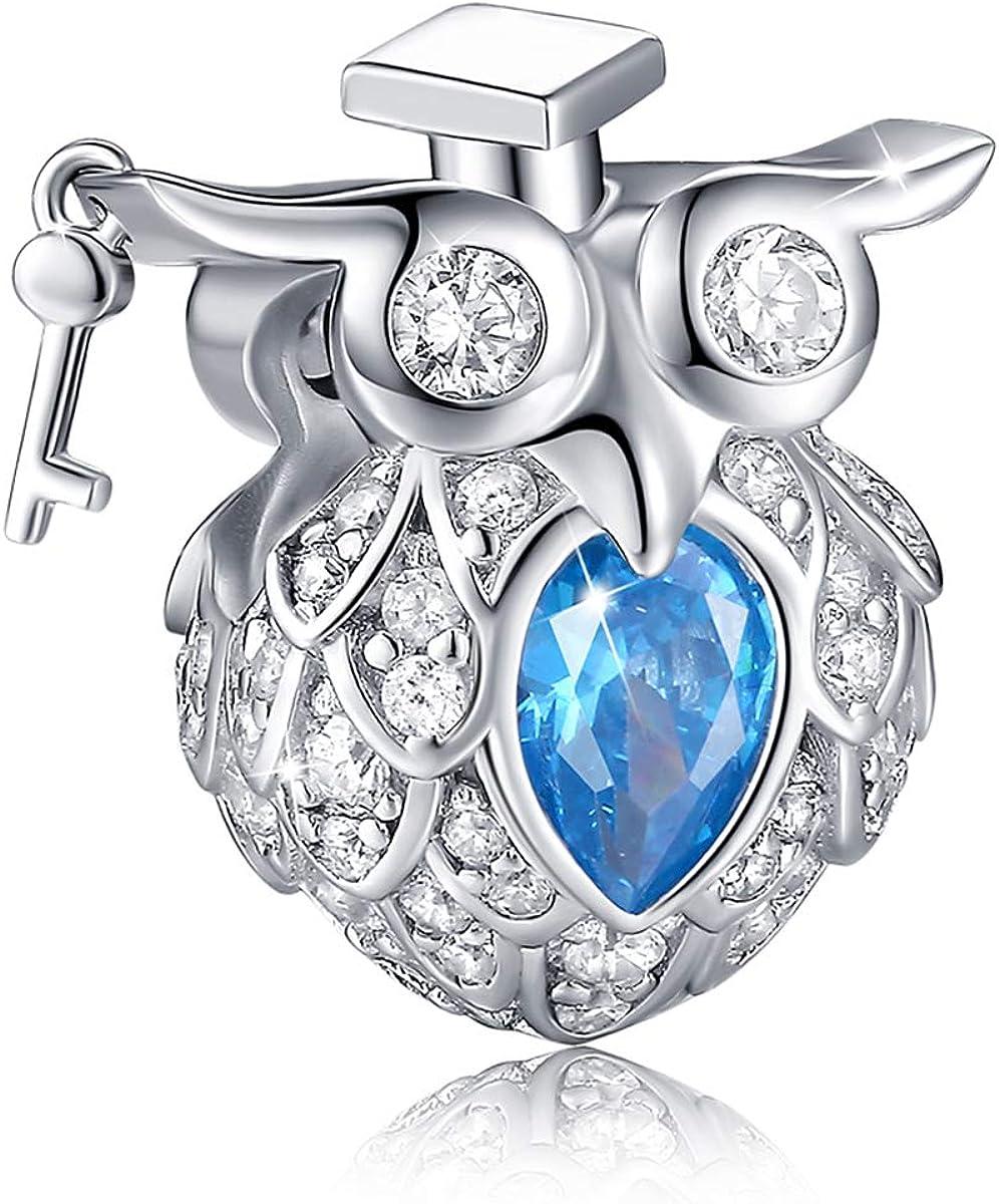 Wostu 925 STERLING SILVER COMPASS Dangle charms avec zircons Fit European Bracelet