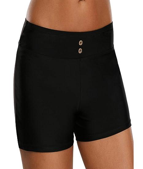 a11faf7af6c19 Amazon.com: Urchics Womens Plus Size Swim Board Shorts High Waist Swimsuit  Tankini Bottom: Clothing