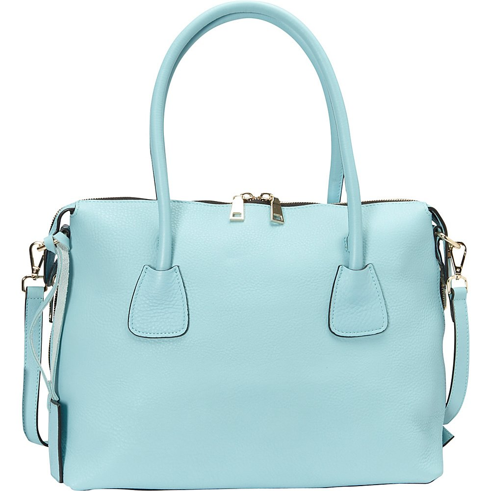 Donna Bella Designs Colette Leather Shoulder Bag, Light Blue
