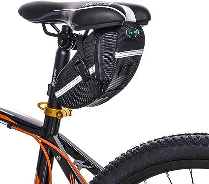 Bicycle Bike Saddle Bag Cycling Tail Rear Bag Under Seat Storage Bag Reflective