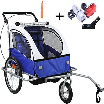 Stylehome® Kinderanhänger 2in1 Fahrradanhänger 360° drehbar Jogger ...