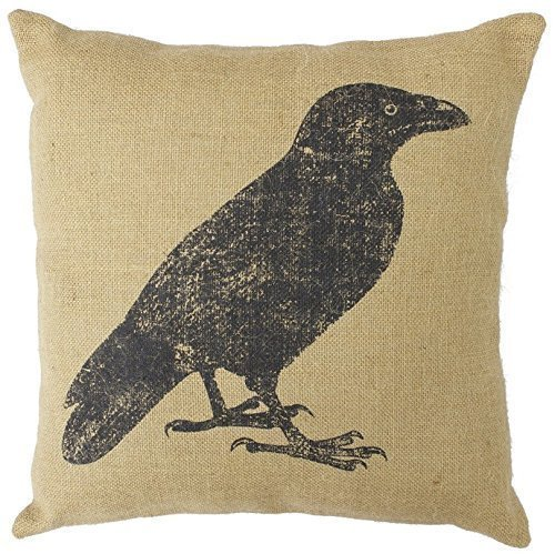 Cover 9630 - JGArtStore Country Feed Sack (Crow) -9630 Throw Pillow Case Cushion Covers Square 18x18 Inch