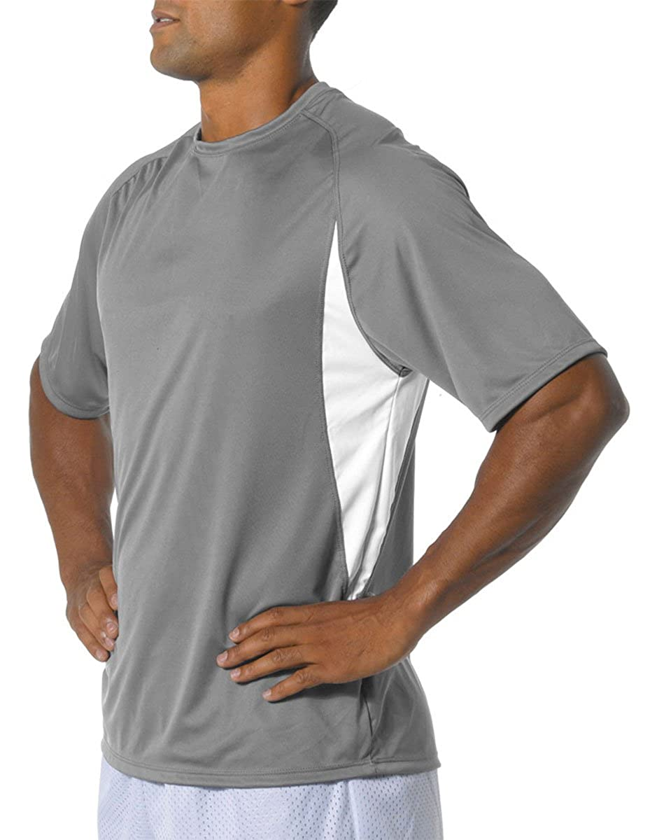 A4 Men/'s High-Performance Moisture-Wicking Color Block T-Shirt