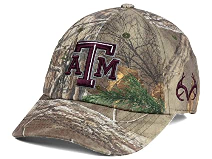 half off ab9c5 1f646 Image Unavailable. Image not available for. Color  Top of the World Texas  A M Aggies Camo Realtree Fallout Stretch Cap