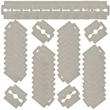 VAGA Set of 50pcs Stainless Steel Replacement Razor Blades for Foot Care, Hard Calluses Removers Corns Shavers Horn Skin Cutters Planers Pedicure Peelers