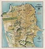 """Map of San Francisco, California, 1912 by August Chevalier 24""""x22"""" Art Print Poster"""