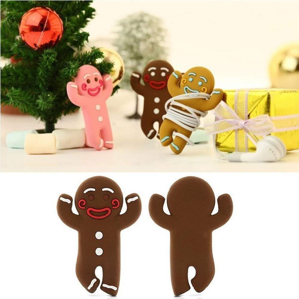 Deanyi Gingerbread Man Enrouleur /écouteur de Fil de c/âble pour Casque Winder Smart Cord Wrap Organisateur Couleur al/éatoire Prodits /électroniques