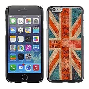 Inglaterra Gran Bretaña Rústico Gb Londres- Metal de aluminio y de plástico duro Caja del teléfono - Negro - Apple (5.5 inches!!!) iPhone 6+ Plus / 6S+ Plus