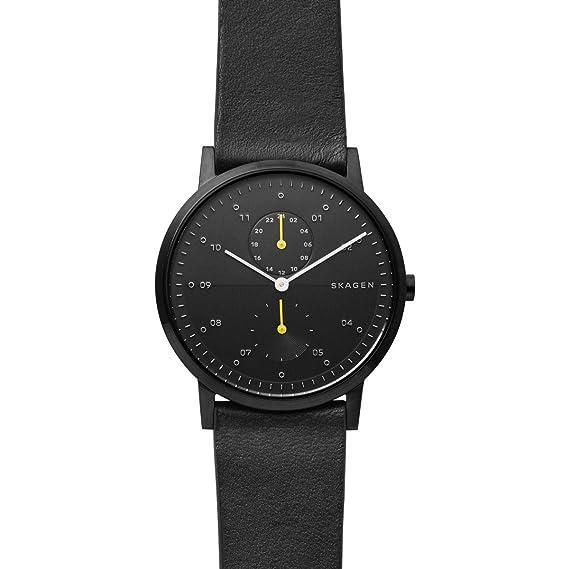 Skagen Reloj Analógico para Hombre de Cuarzo con Correa en Cuero SKW6499: Amazon.es: Relojes