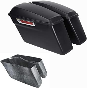 2014–2017 ABS Saddlebag popular Lids for Harley hard bag matt black color