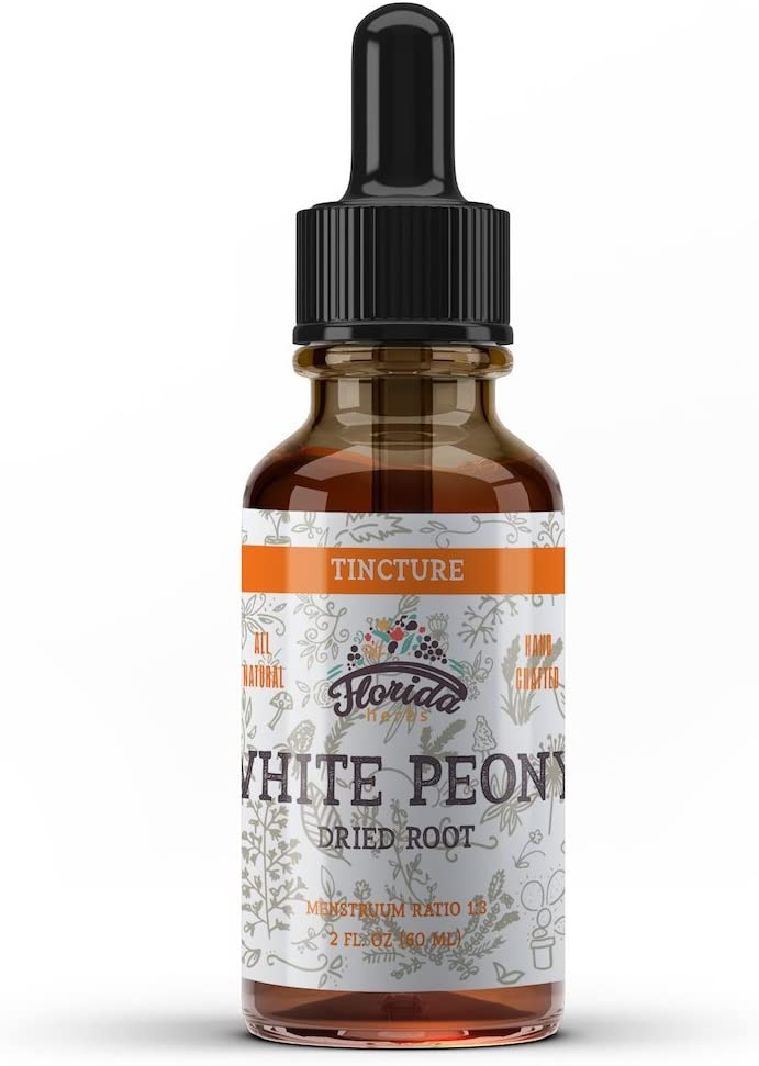 White Peony Tincture, Organic White Peony Extract Paeonia Lactiflora Root, Non-GMO in Cold-Pressed Organic Vegetable Glycerin 2 oz, 670 mg