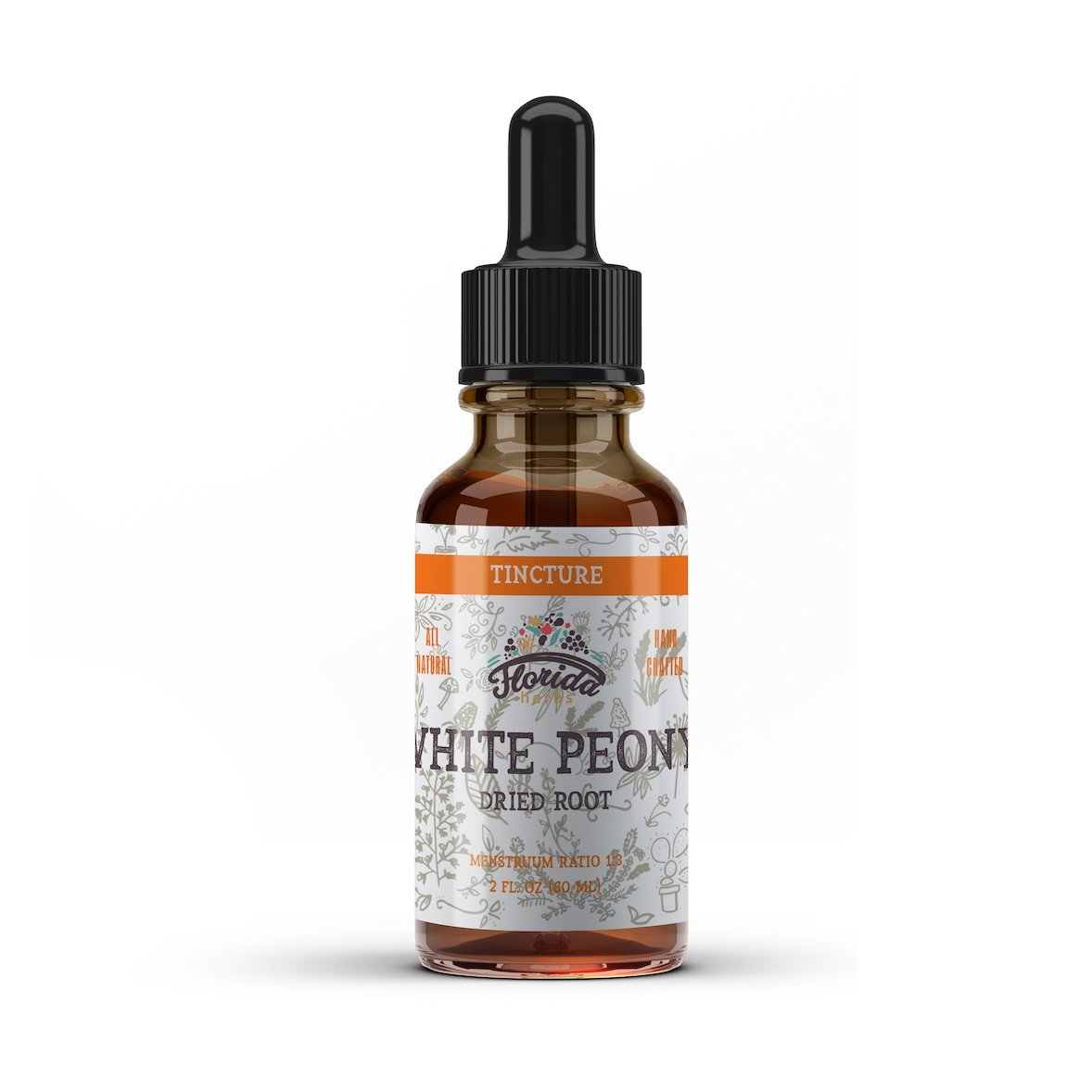 White Peony Tincture, Organic White Peony Extract (Paeonia Lactiflora) Root, Non-GMO in Cold-Pressed Organic Vegetable Glycerin 4 oz, 670 mg