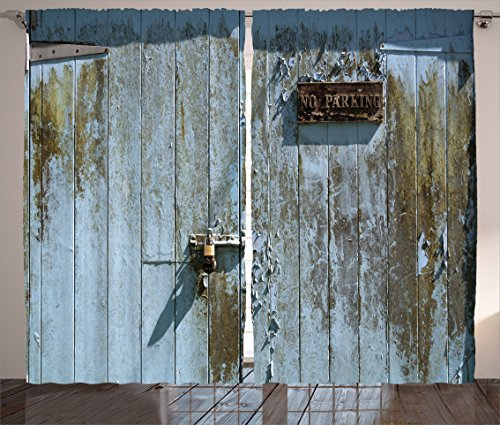 ambesonne-industrial-decor-collection-grungy-old-rotting-garage-door-with-no-parking-sign-rusty-lock