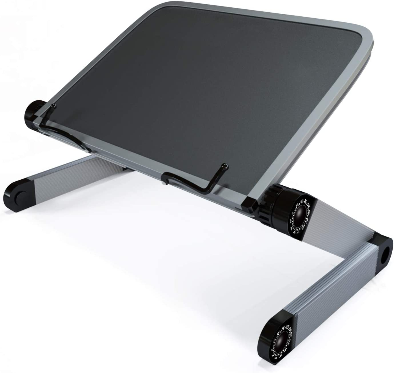 Book Stand - Book Holders for Reading Hands Free - Adjustable Foldable Bookstand for Paperbacks/Cookbook/Textbook/Recipe Book/Page Paper/Magazines/Music Sheets/Classic Books (Black)