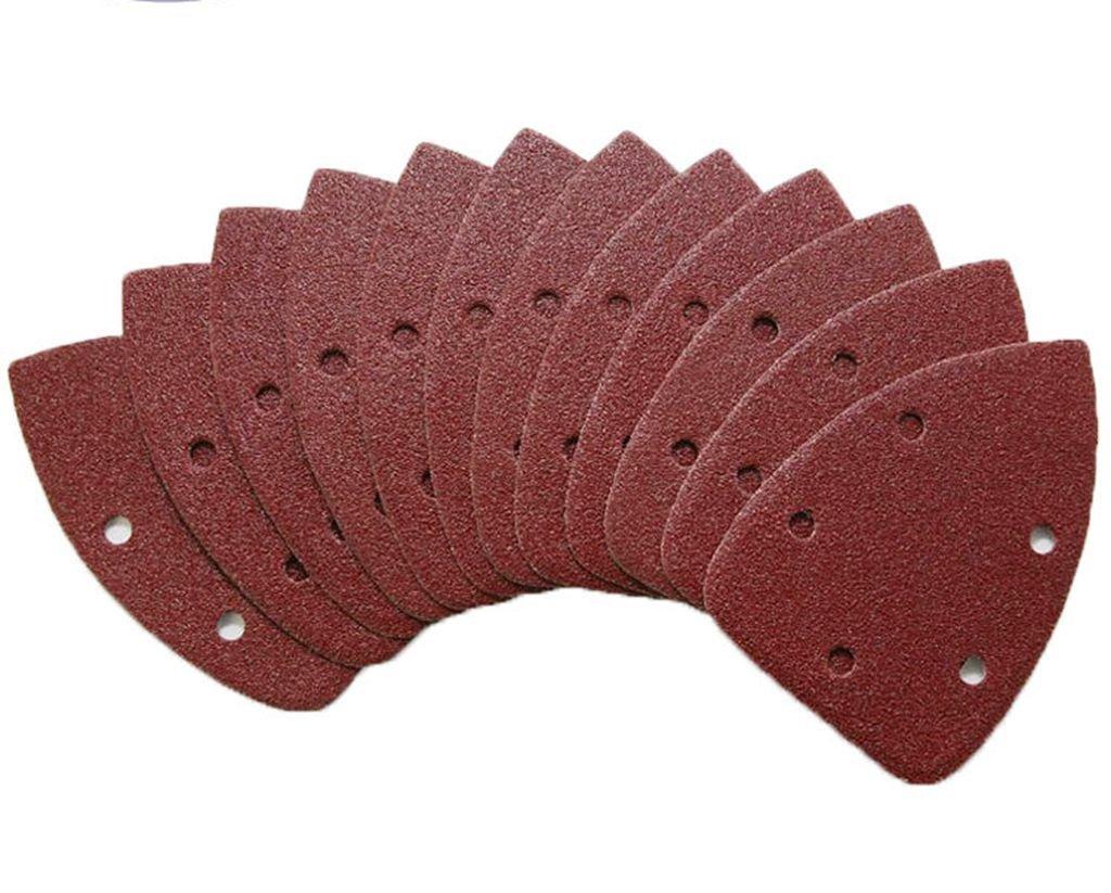 96 PCS Mouse Sander Hook and Loop Sandpaper Sand Disc Sanding Sheet 40//60//80//180//240//320 Oval 96pcs Homyhoo