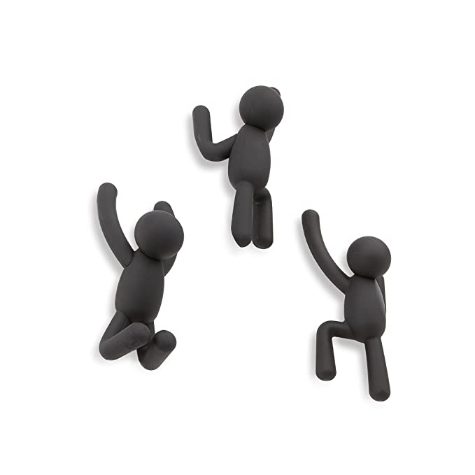 Umbra 318165-040 Percheros de Pared Buddy Negro,Set of 3