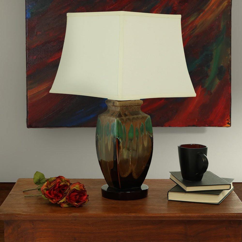 Sunnydaze Indoor Multi-Colored Ceramic Table Lamp, 23 Inch by Sunnydaze Decor (Image #1)