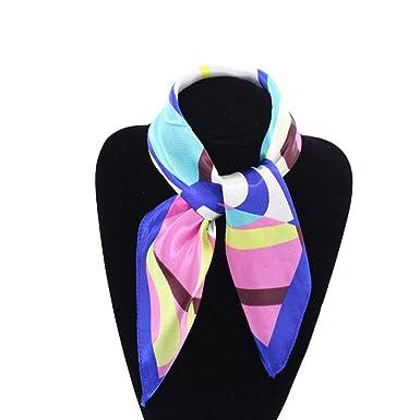 76eb53060949 Printemps Petit Foulard Carré en Soie pour Femme Motif d Impression Mode