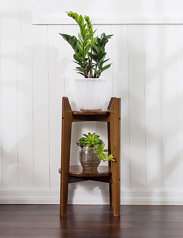 GAOCHAOXIANGHJ Blumentopf Regal Holzboden Typ 2 Schicht Blumenregal Europäische Stil Einfache Indoor Outdoor Regale ( größe : S )