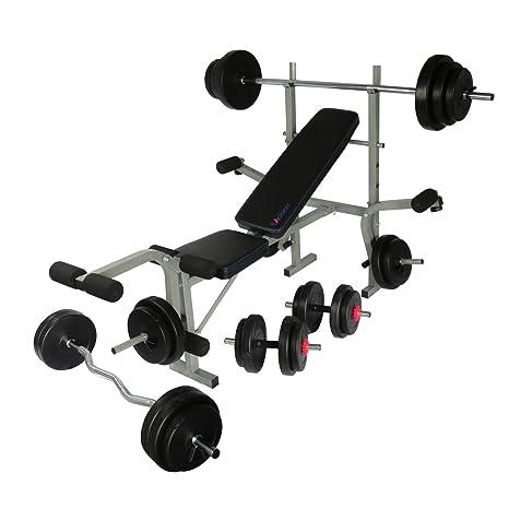 Uni Best Banco de pesas presiona Banco fitness Center pro502 con largo de, Curl de