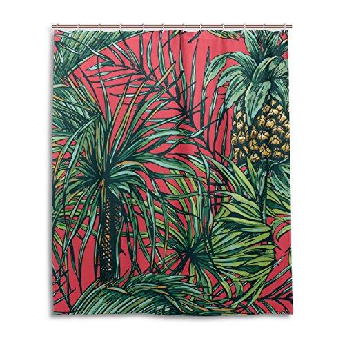 bath-shower-curtain-60x72-inchretro-tropical-floral-pineapple-waterproof-polyester-fabric-bathroom-c