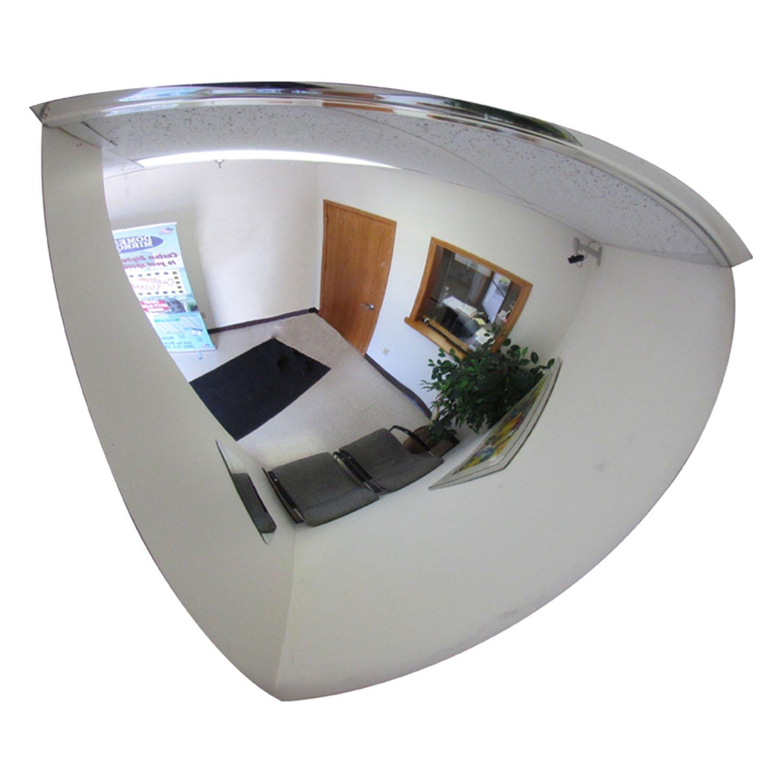 Se-Kure Domes & Mirrors ONV-90-18 Quarter Dome Mirror, 18 Diameter 18 Diameter