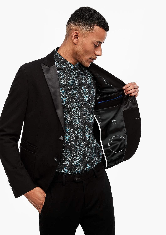 s.Oliver BLACK LABEL Herren Slim Jogg Suit Smoking-Sakko