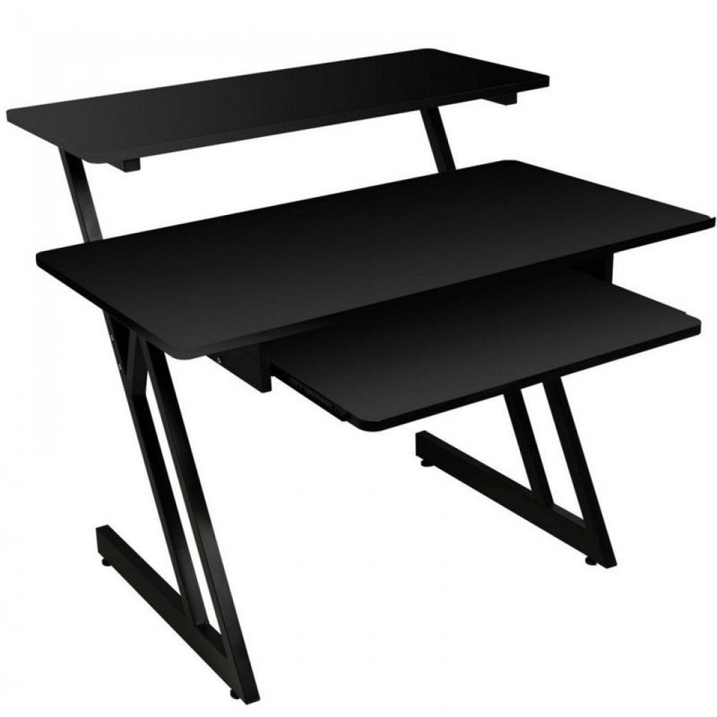 On-Stage WS7500 Series Wood Studio Workstation, Black by OnStage