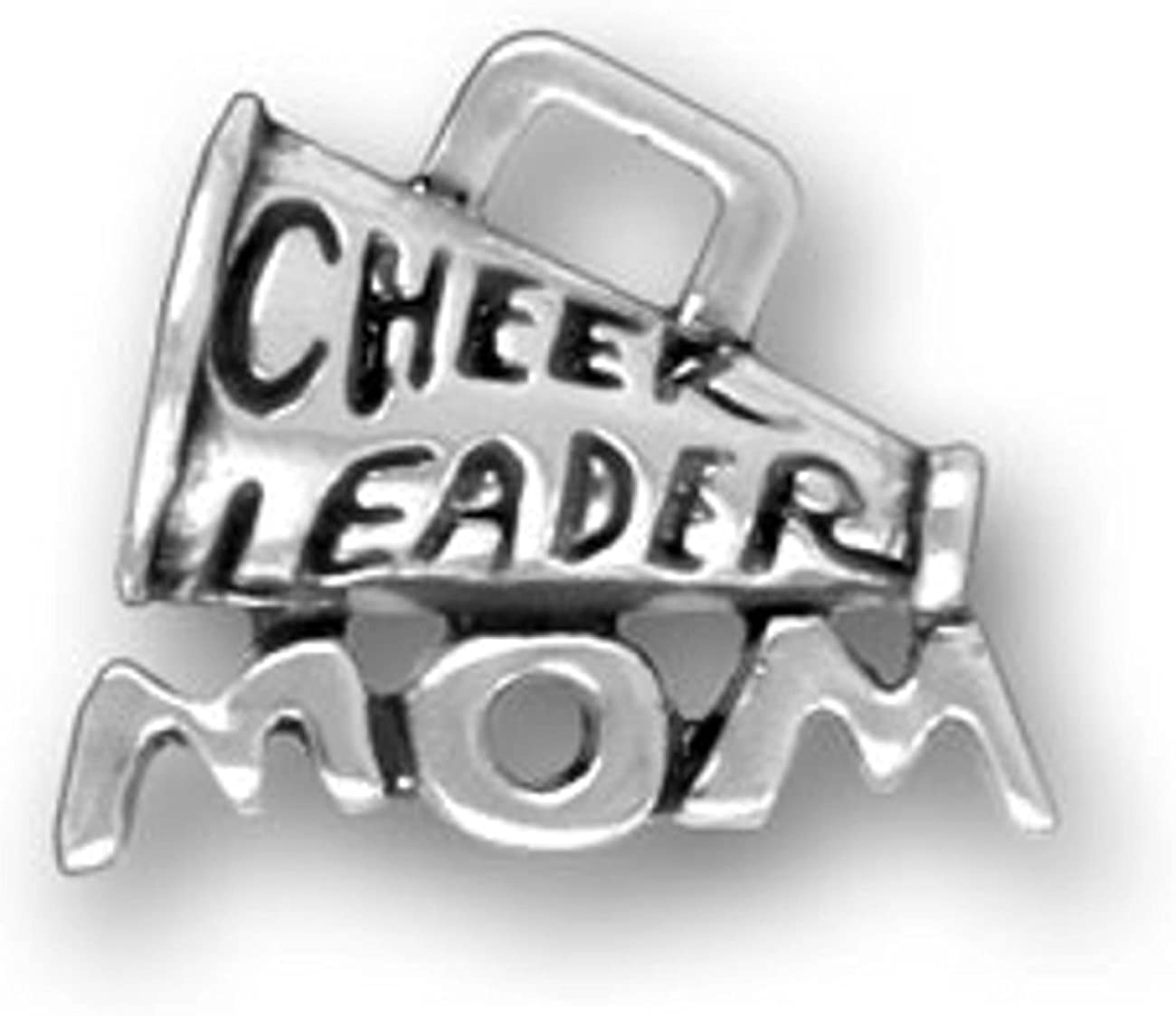 Sterling Silver Cheer Sports .925 Charms jewelr Cheerleading Megaphone Charm