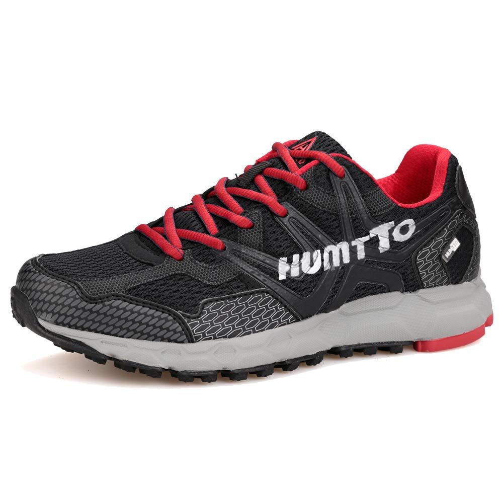 Sunjcs - Zapatillas para Correr en Montaña para Hombre 43.5 EU|Black(red)