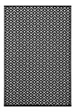 Outdoor/ Light Weight/ Reversible Eco Plastic Rug (6 x 9, Black / White)