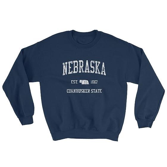 nebraska sweatshirt vintage sports gift ideas state design navy - Sweatshirt Design Ideas