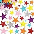 Lot de 150 Autocollants Étoiles Pailletées colorées en Mousse - Idéal pour toute décoration créative