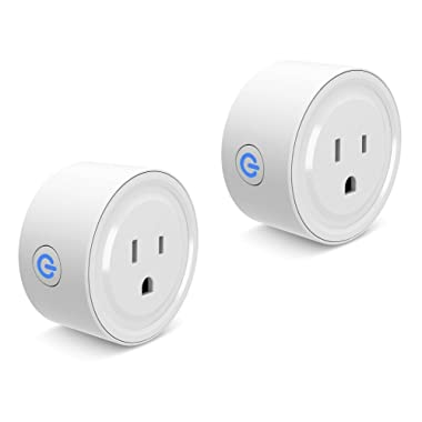 Smart Plug Wi-Fi Enabled Mini Smart Socket Compatible with Alexa Google Home, Remote Control with Timing Function-2 Pack