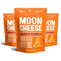 Moon Cheese, 100% Cheddar Cheese Snacks, Crunchy Keto Food, Low Carb, High Protein, 56.6g (Cheddar - 1 pack)