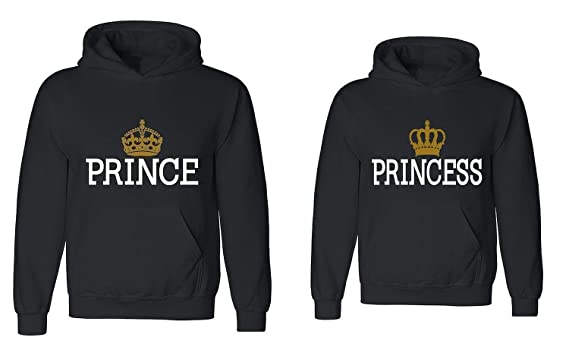 670d513d239 Couple Hoodie - Prince   Princess - Matching Love Hoodies at Amazon Men s  Clothing store