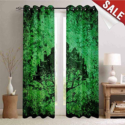 UNOSEKS LANZON Abstract Gromets Curtain Darkening Blackout, City