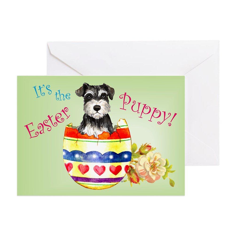Amazon.com : CafePress - Easter Miniature Schnauzer - Greeting Card ...