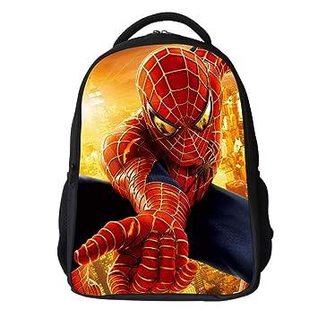 JIAN Mochila Infantil Spiderman 3D Ligera Impermeable, Resistente Al Desgaste, Mochila Escolar De Gran Capacidad,K-29 * 18 * 42cm: Amazon.es: Hogar