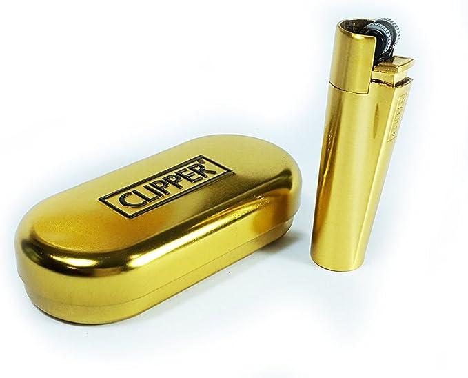 Clipper ® Más Ligero - Edición Metal Flint - Oro Mate con Metallbox: Amazon.es: Hogar