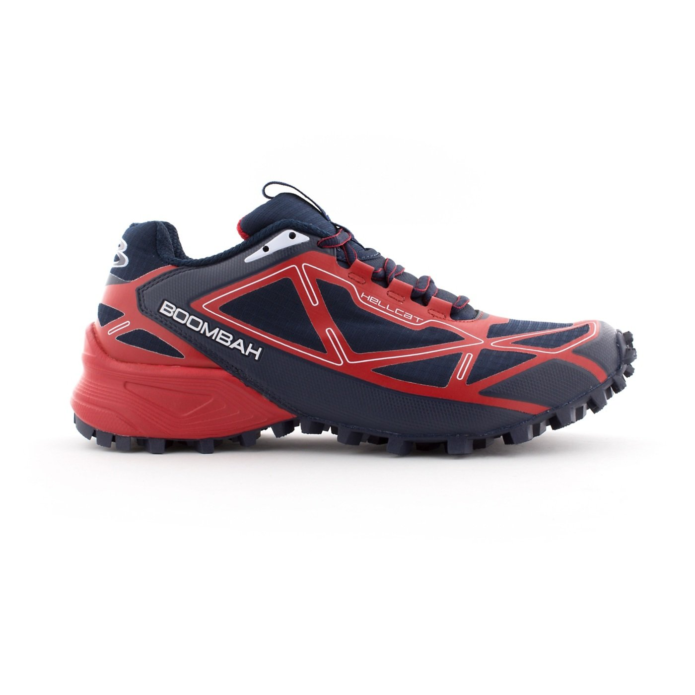 Boombah Men's Hellcat Trail Shoe - 14 Color Options - Multiple Sizes B073X6FH3R 9.5|Navy/Red