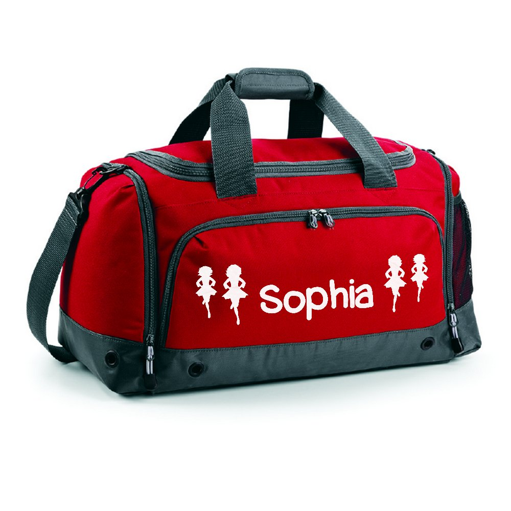 iClobber Irish Dancing Holdall Personalised with Your Name or club Girls Kids Kit Bag Bag